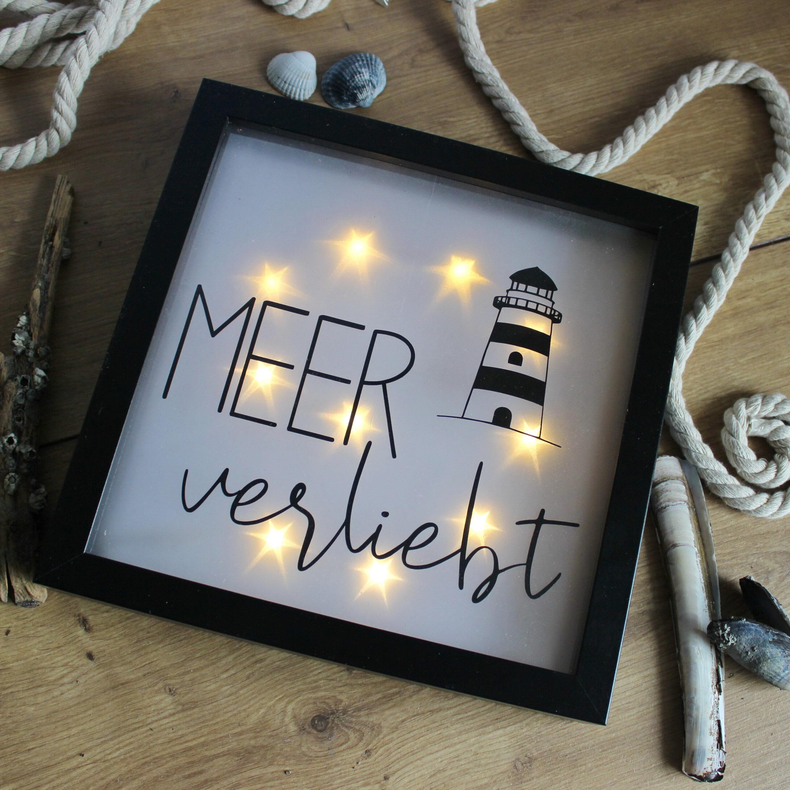 """Leuchtbild """"Meerverliebt"""""""