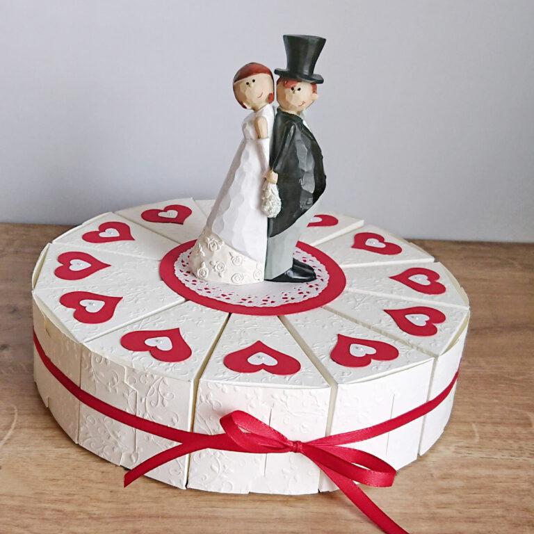 Geschenkverpackung Hochzeitstorte