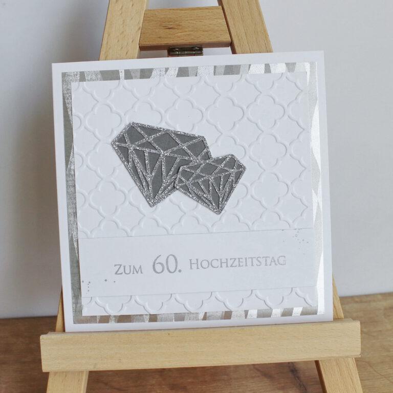 """Glückwunschkarte """"Diamantene Hochzeit"""""""