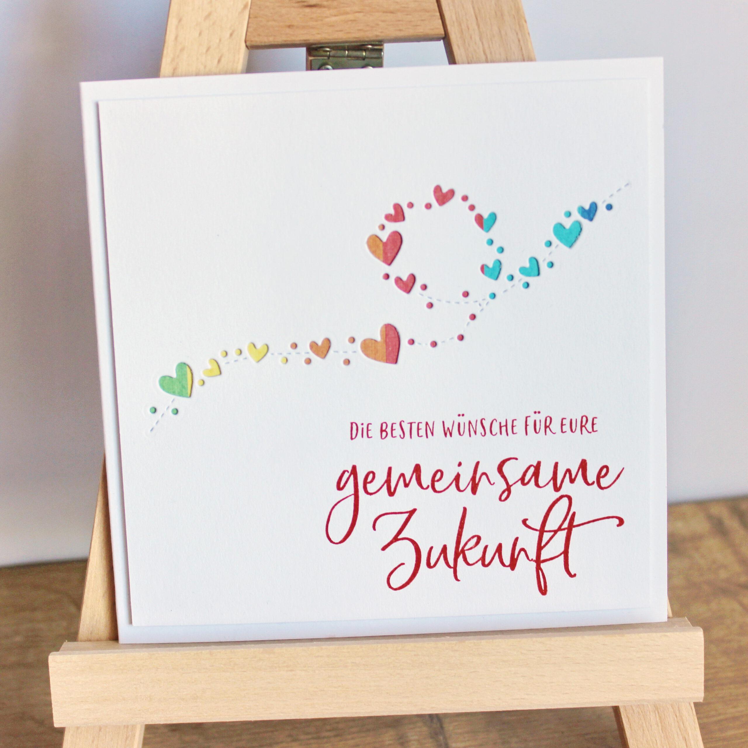 Hochzeitskarte Herzlooping