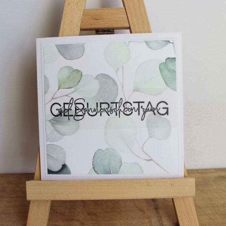 "Geburtstagskarte ""Eukalyptus"""